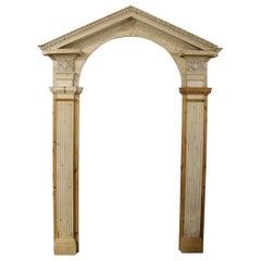 Georgian Carved Pine Doorway