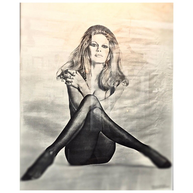 Original Iconic And Rare Vintage Brigitte Bardot Poster from 1970 For Sale