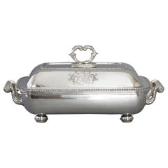 Large Silver Entree Dish with Warming Dish London 1814
