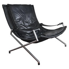 20th Century Leather Lounge Chair by Gerard Van Den Berg, 1980s Dutch Design