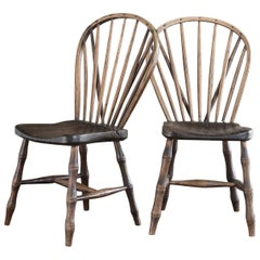 Pair of Early 19th Century Windsor Side Chairs