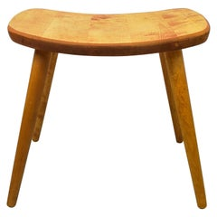 Swedish Stool in Birch, 1950s