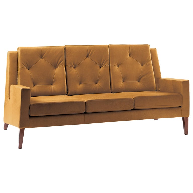 Geo Settee in Leather For Sale