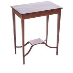 Edwardian Inlaid Mahogany Lamp Table