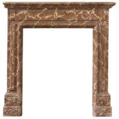 Faux Marble Hand Painted Bedroom Fireplace
