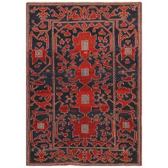 Small Antique Tribal Caucasian Kuba Rug