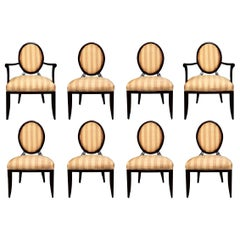 Set of 8 Barbara Barry Collection by Baker Dining Chairs