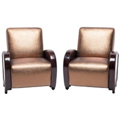 Pair of Shanghai Deco Club Chairs