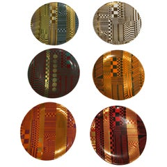Set of 6 Wedgwood Variations on a Geometric Theme Plates by Edwardo Paolozzi