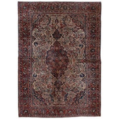 Antique Sarouk Rug Circa 1930s