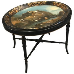 Antique English Regency Tray Top Table