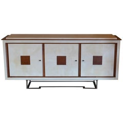 1960s Italian Parchment and Oak Sideboard