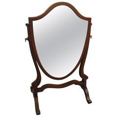 Late 19th Century Mahogany Hepplewhite Dressing Mirror