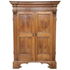 17th Century Italian Louis XIV Walnut Carved Wardrobe or Armoire