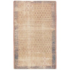 Small Tribal Antique Distressed Shabby Chic Khotan Rug