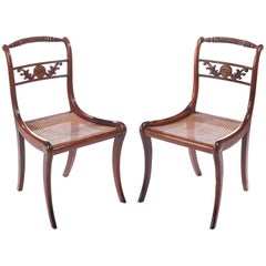 Pair of Quality Regency Rosewood Side Chairs