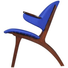 Carl Edward Matthes Danish Teak Lounge Chair, 1960s