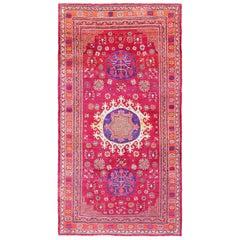 Vintage Silk Khotan Rug