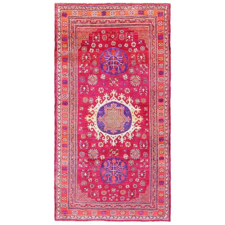 Vintage Silk Khotan Rug 1
