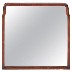 Quality Antique Walnut Wall Mirror