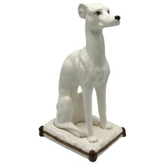 1960s Italian Greyhound Ceramic Sculpture