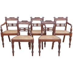 Set of Ten Regency Style Anglo-Indian Chairs