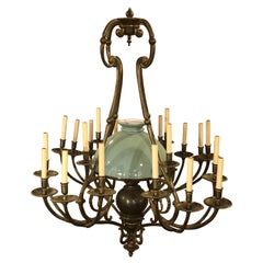 Georgian Style Chandelier with a Globe Centre Matching Chain and Canopy