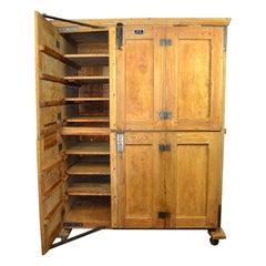 Vintage Bakery Cabinet - Baker's Cabinet on wheels  - Kitchen Storage 1940s