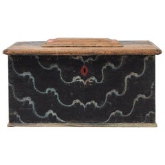 Early 19th Century Swedish Trunk with Rare Original Paint