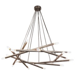 "Contemporary ""Polaris"" Chandelier in Brushed Nickel by Blueprint Lighting, 2018"