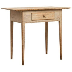 Late 18th Century Gustavian Desk in Pine with Drawer