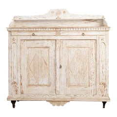 Swedish Gustavian Sideboard from the Late 18th Century with Old Historic Paint