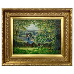 Early 20th Century Oil Impressionist Painting