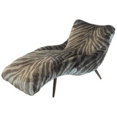 Lounge Chair in Faux Tiger Fur