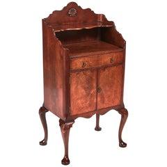 Quality Burr Walnut Side Cabinet