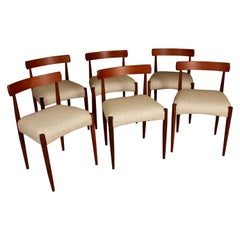 Six Midcentury Dining Chairs by Arne Hovmand Olsen for Mogens Kold, circa 1960