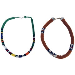 Vintage African Urembo Beaded Necklace by the Maasai Tribe Kenya