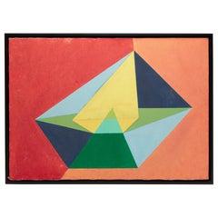 Multicolor Geometric Acrylic on Canvas