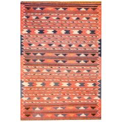 Fantastic Vintage Turkmen Kilim Rug