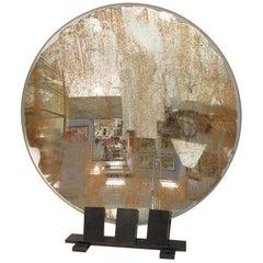 Spectacular Industrial Lighthouse Mirror Optic Lens Sculpture