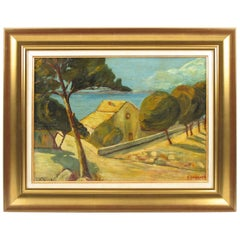 Auguste Chabaud Oil on Board Painting French Mediterranean Seascape
