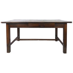 Rustic Antique Farm Work Table or Desk with Drawers