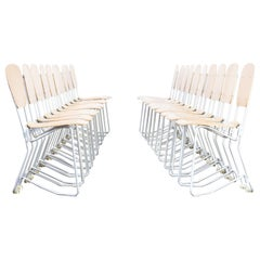 1950s Armin Wirth 'aluflex' Folding Chair for Hans Zollinger Sohre Set of 20