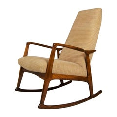 Midcentury Danish Beech Rocking Chair, 1960s