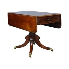 Antique Pembroke Table, Mahogany, English, Regency, Drop Flap, circa 1820