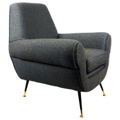 1960s Armchair by Gigi Radice for Minotti, Italy