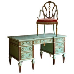 Antique Desk & Chair Victorian Russian Interest Tsar Nicholas I Lady Zia Wernher