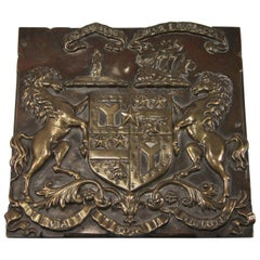 Victorian Copper Coach Plate, Smith Cuninghame Family