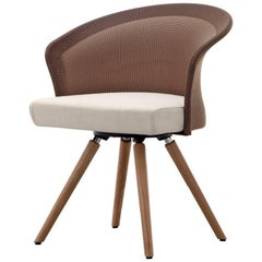 """Shells"" Walnut Legs Contemporary Modern Designer Dining Room Chairs"