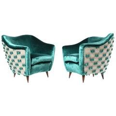 Paar Gio Ponti Stühle für Casa e Giardino